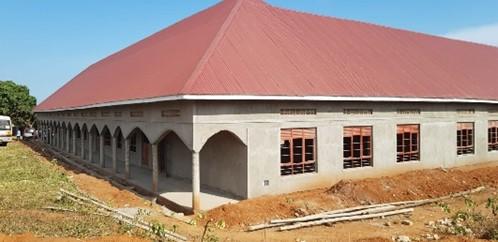 Außenputzarbeiten an der Inklusionsschule in Bukulula